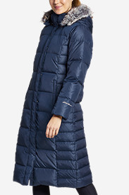 Blue Petite Outerwear for Women: Women's Lodge Down Duffle Coat