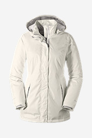 White Parkas for Women: Women's Rainfoil Fleece-Lined Parka