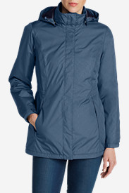 Blue Petite Outerwear for Women: Women's Rainfoil® Fleece-Lined Parka
