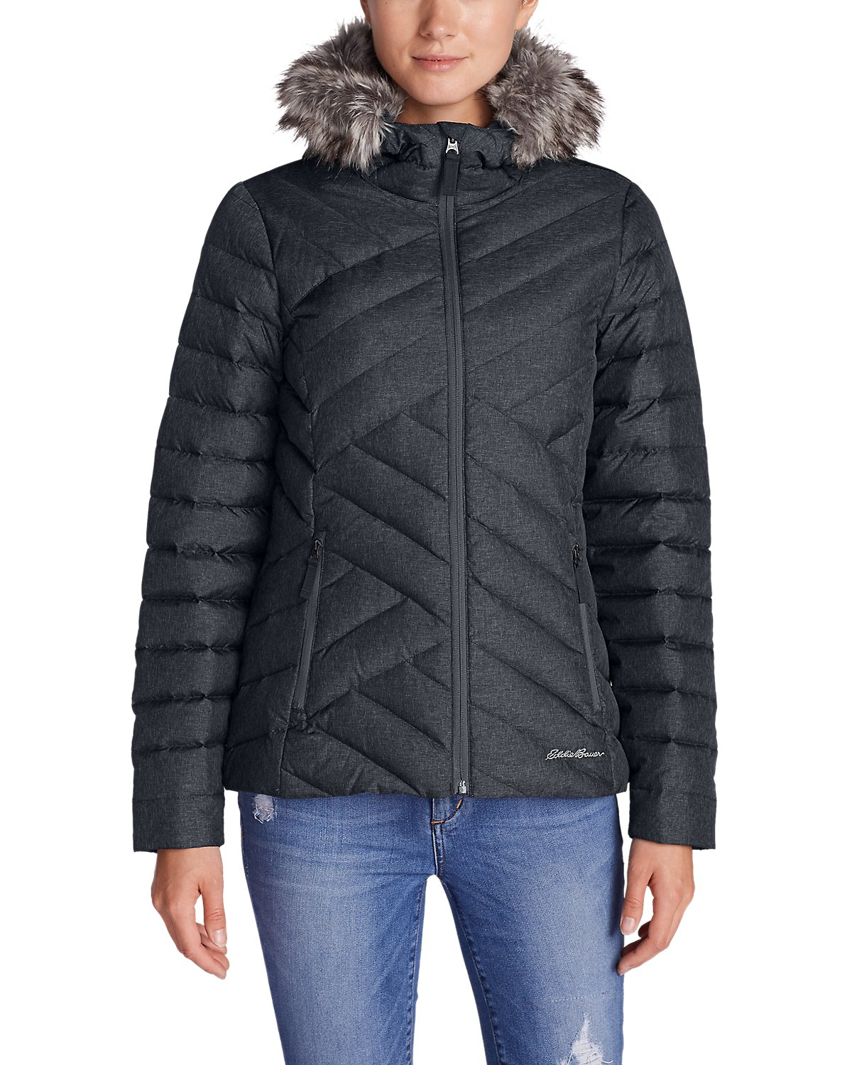Eddie Bauer Slate Mountain Down Womens Jacket