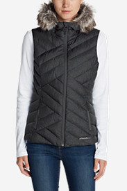 Black Vests: Women's Slate Mountain Down Vest