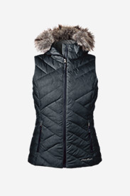 Blue Petite Outerwear for Women: Women's Slate Mountain Down Vest
