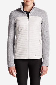 Insulated Tops for Women: Women's MicroTherm Hybrid Sweater