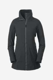 Ski Jackets for Women: Women's Londyn Soft Shell Trench Coat