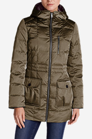Faux Leather Parkas for Women: Women's Yukon Classic Down Parka