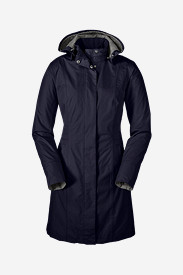 Blue Jackets: Women's Girl on the Go Trench Coat