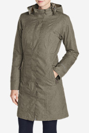 Waterproof Trench Coats for Women: Women's Girl On The Go Insulated Trench Coat