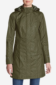 Green Trench Coats for Women: Women's Girl On The Go Insulated Trench Coat