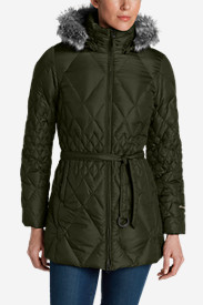 Green Petite Outerwear for Women: Women's Slope Side Down Parka