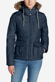 Blue Petite Outerwear for Women: Women's Yukon Classic Down Jacket