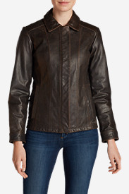 Winter Coats: Women's Leather Stine Jacket