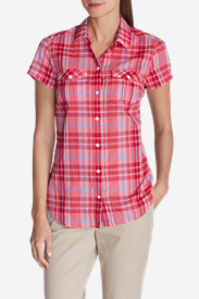 Button-Down Tops for Women: Women's Packable Short-Sleeve Shirt
