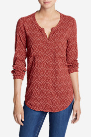 Women's Falling Leaves Long-Sleeve Shirt - Print