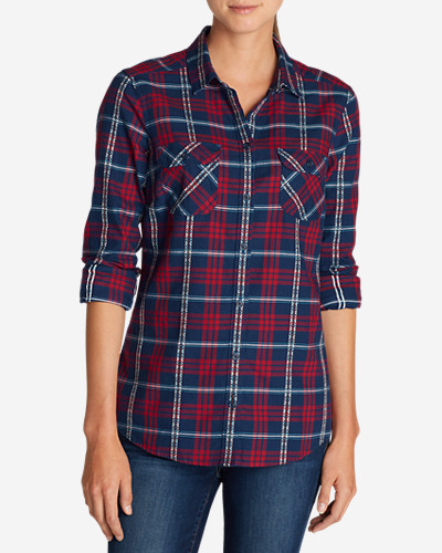 Flannel Tops for Women: Women's Stine's Favorite Flannel Shirt - Dobby