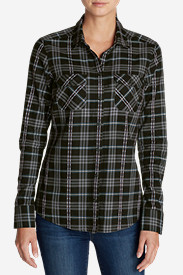 Comfortable Tops for Women: Women's Stine's Favorite Flannel Shirt - Dobby