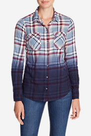 Women's Stine's Favorite Flannel Shirt - Dip Dye