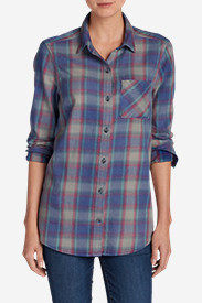 Insulated Tops for Women: Women's Stine's Favorite Flannel Boyfriend Shirt - Vintage Wash