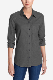 Women's Stine's Favorite Flannel Shirt - One-Pocket Boyfriend - Heather