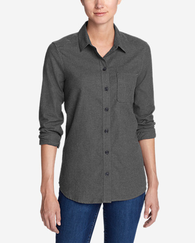 Women's Stine's Favorite Flannel Shirt   Boyfriend, Heather by Eddie Bauer