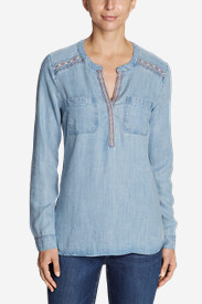 Women's Tranquil Embroidered Popover Tunic