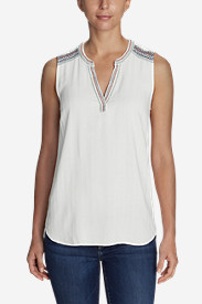 Women's Sunrise Sleeveless Popover Shirt - Embroidered