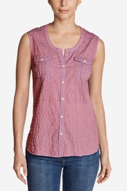 Women's Packable Sleeveless Shirt - Solid