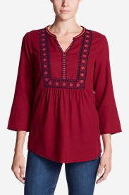 Women's Paintbrush Embroidered Top