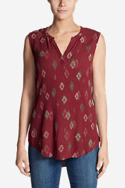 Women's Thistle Sleeveless Popover Top - Print