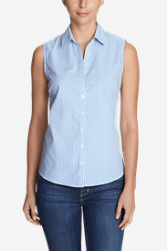 Women's Wrinkle-Free Sleeveless Shirt - Print