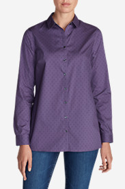 Women's Wrinkle-Free Long-Sleeve Tunic - Print