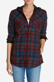 Women's Stine's Favorite Flannel Hooded Shirt Jacket