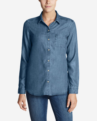 Women's Tranquil Boyfriend Shirt - Indigo