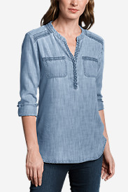 Women's Tranquil Embroidered Tunic - Indigo