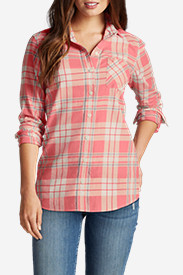 Orange Tops for Women: Women's Stine's Favorite Flannel Shirt - One-Pocket Boyfriend