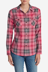 Orange Tops for Women: Women's Classic Packable Shirt