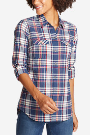 Cotton Tops for Women: Women's Classic Packable Shirt
