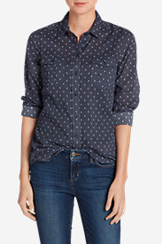 Button-Down Tops for Women: Women's Packable Shirt - Print