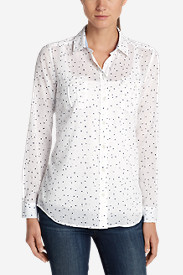 Cotton Tops for Women: Women's Packable Shirt - Print