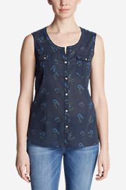 Women's Packable Sleeveless Shirt - Print