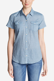 Women's Packable Short-Sleeve Shirt - Solid