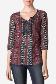 3 Quarter Sleeve Tops: Women's Chelan Tunic