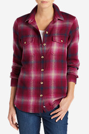 Cotton Tops for Women: Women's Fireside Shirt Jacket
