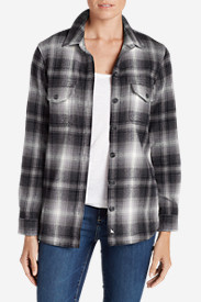 Flannel Tops for Women: Women's Fireside Shirt Jacket
