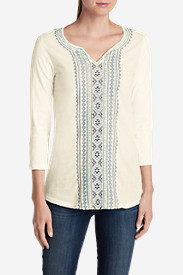 3 Quarter Sleeve Tops: Women's Arya Creek Tunic Shirt