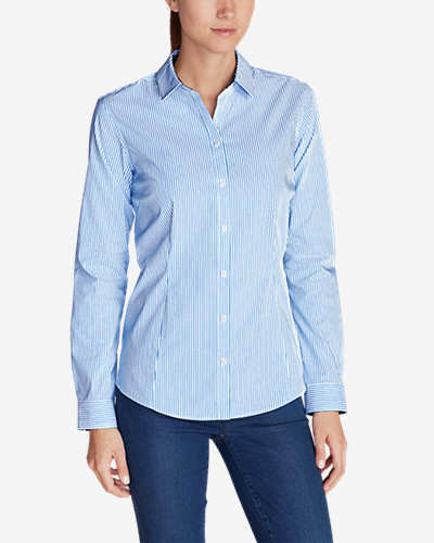 Women's Wrinkle Free Long Sleeve Shirt   Print by Eddie Bauer
