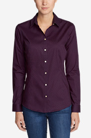 Women's Wrinkle-Free Long-Sleeve Shirt - Print