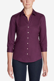 Women's Wrinkle-Free 3/4-Sleeve Shirt - Print