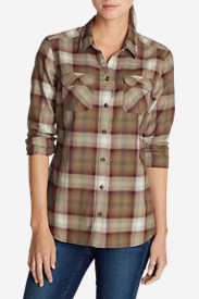 Petite Flannel Shirts for Women: Women's Stine's Favorite Flannel Shirt - Plaid