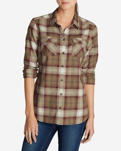 Flannel Tops for Women: Women's Stine's Favorite Flannel Shirt - Plaid