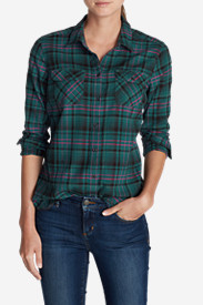 Button-Down Tops for Women: Women's Stine's Favorite Flannel Shirt - Plaid